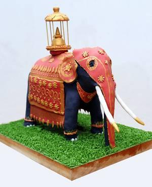 """The Kandy Pageant Elephant - Submission for """"Beautiful Sri Lanka""""Collaboration - Cake by Lakshini Wijegoonewardane"""