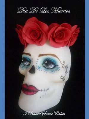 Skelita Calaveras (little skeleton girl) - Cake by Julie, I Baked Some Cakes