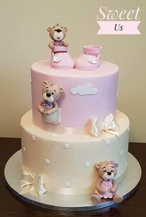Christening cake - Cake by Gabriela Doroghy
