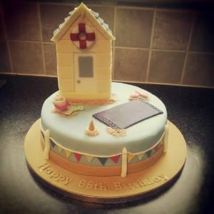Beach Hut - Cake by Rachel White