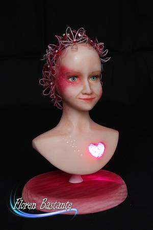 Nell - Amore - a heart for children collaboration - Cake by Floren Bastante / Dulces el inflón