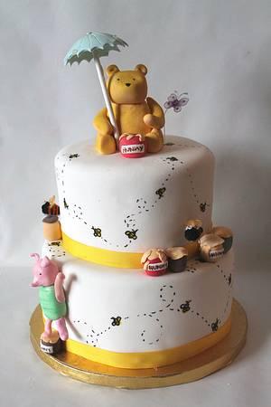 Classic Winnie the Pooh shower cake - Cake by Sarah F