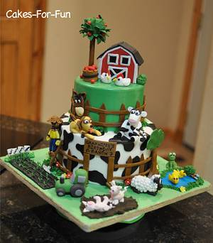 Farm Cake for First Birthday - Cake by Cakes For Fun