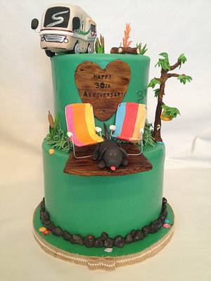 30th Anniversary cake for campers - Cake by KerrieA