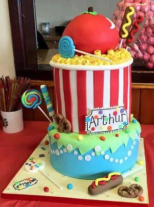 CARNICAL BABY SHOWER CAKE - Cake by JojosCupcakeMadness