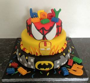 Lego and superheroes - Cake by Marie