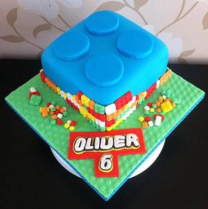 Lego Brick  - Cake by Carrie