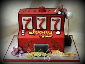 Slot Machine Cake - Cake by Sandrascakes