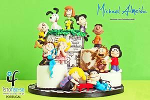 THE PEANUTS GANG - SUGAR COLLABORATION - Cake by Michael Almeida