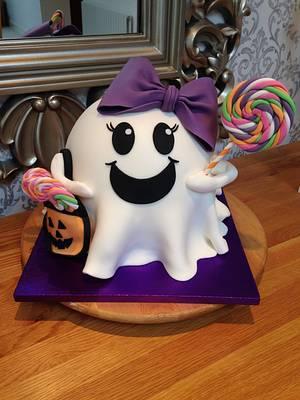 Boo..! - Cake by Lulu Belles Cupcake Creations