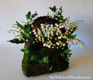World Cancer Day Sugarflowers and Cakes in Bloom Collaboration  - Cake by Oksana Krasulya - My Delicious Tiramisu LLC
