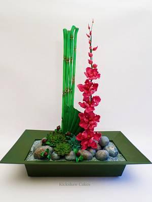 Sugar Flower Arrangement - Cake by Kickshaw Cakes