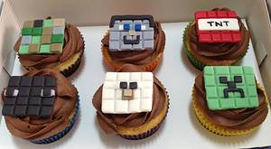 Minecraft Cupcakes for Afternoon Tea - Cake by MariaStubbs