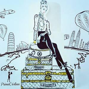 The Jet Set Fashion Cake - Around the World Collaboration  - Cake by PrimaCristina