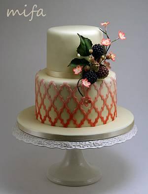 Morrocan Lattice Cake with Sugar Berries - Cake by Michaela Fajmanova