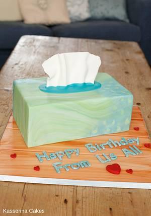 Tissue box cake - Cake by Kasserina Cakes