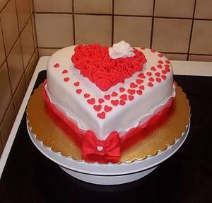 Valentine Heart - Cake by Stániny dorty
