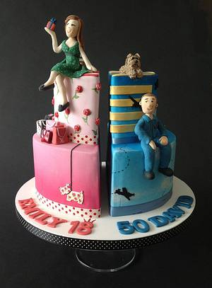 Split cake - Cake by Fatcakes