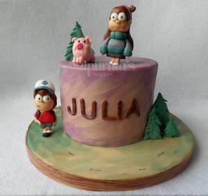 Gravity Falls cake - Cake by Calpurnia's bakery