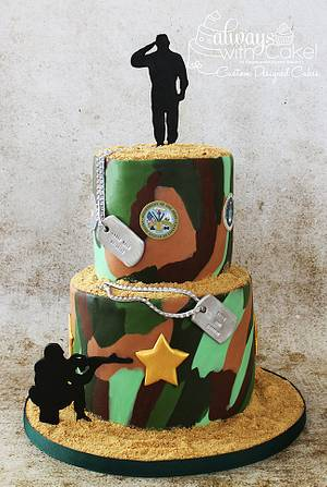 Military Birthday Cake - Cake by AlwaysWithCake