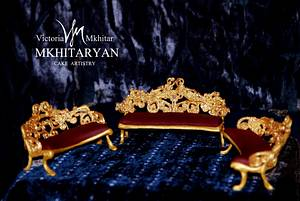 Baroque Royal furniture cake toppers - Cake by Art Cakes Prague
