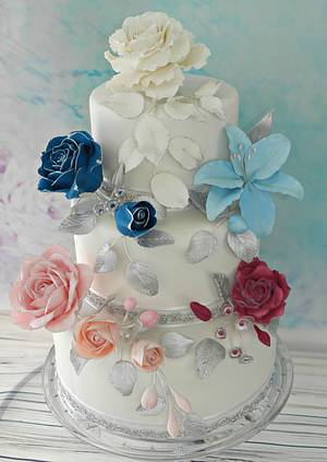 The World of Sugar Flowers Tribute - Cake by SallyMack