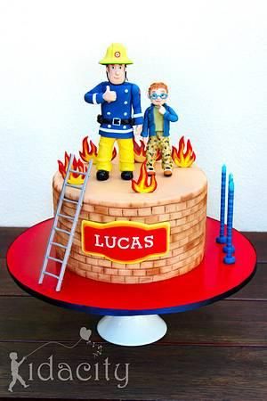 Fireman Sam and naughty Norman - Cake by Kidacity