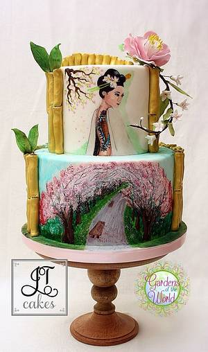 Lady of the Garden - Gardens of the world Collaboration - Cake by JT Cakes