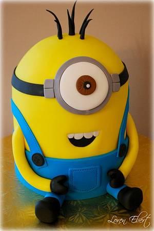 Despicable Me Minion Cake! - Cake by Loren Ebert