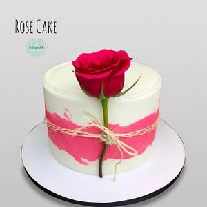 Torta Rosa - Rose Cake - Cake by Dulcepastel.com