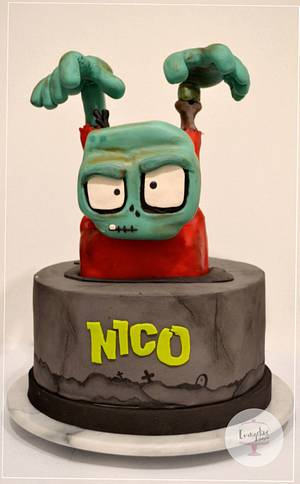 Zombie Infection Cake - Cake by Evangeline.Cakes