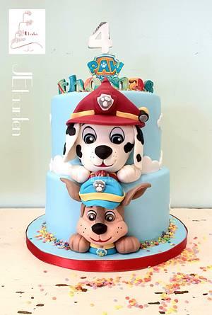 Pawpatrol kids birthday cake - Cake by Judith-JEtaarten