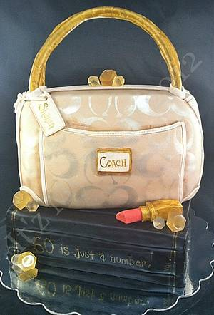 Dimensional Coach Purse Cake & Book - Cake by It'z My Party Cakery