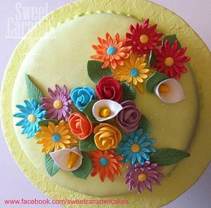 Spring Flowers - Cake by Sweet Caramel Cakes