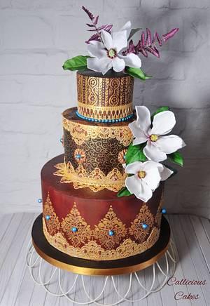 Claret Springtime  - Cake by Calli Creations