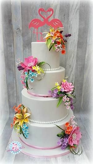 Tropical weddingcake - Cake by Sam & Nel's Taarten