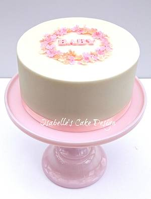 Girl Baby Shower Cake - Cake by The Rosehip Bakery