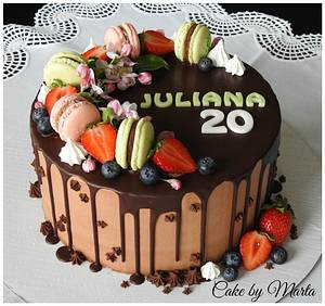 Drip cake for Juliana - Cake by MartaMc