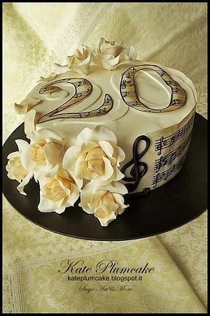Music cake - Cake by Kate Plumcake