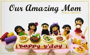 Amazing Mom - Cake by Diana
