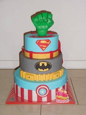 Super hero cake - Cake by Liliana Vega