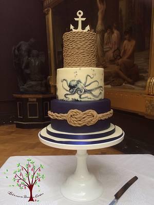 Nautical Wedding Cake - Cake by Blossom Dream Cakes - Angela Morris