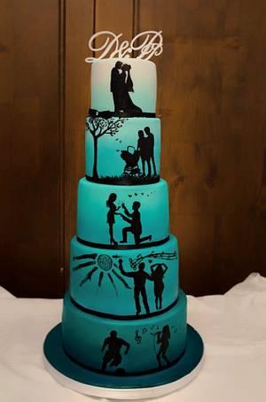 Love Story Wedding Cake - Cake by Art Bakin'