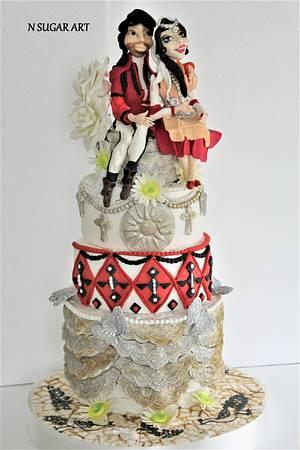 Arround the world in sugar collaboration (Wedding traditions) - Cake by N SUGAR ART
