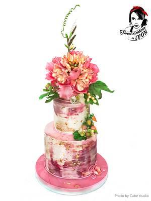 Pink&Peony  - Cake by Ivon