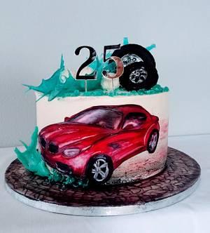 Red BMW - Cake by alenascakes