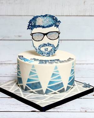 34 Shades of Blue-Grey - Cake by Sunitha Jossey