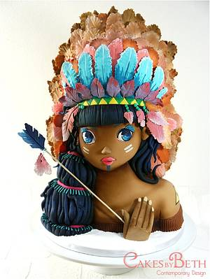 Tiger Lily for Threadcakes - Cake by Beth Mottershead