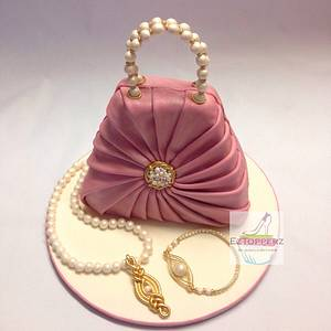 Vintage Clutch Bag - Cake by EzTopperz by Jessica