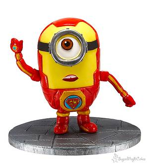 Iron Man Minion!......SuperJosh Collaberation - Cake by SugarMagicCakes (Christine)